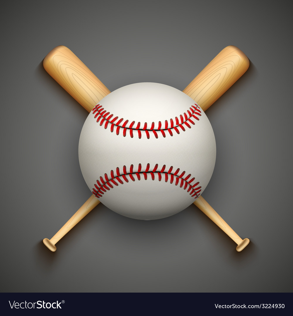 Dark background of baseball leather ball and vector | Price: 1 Credit (USD $1)