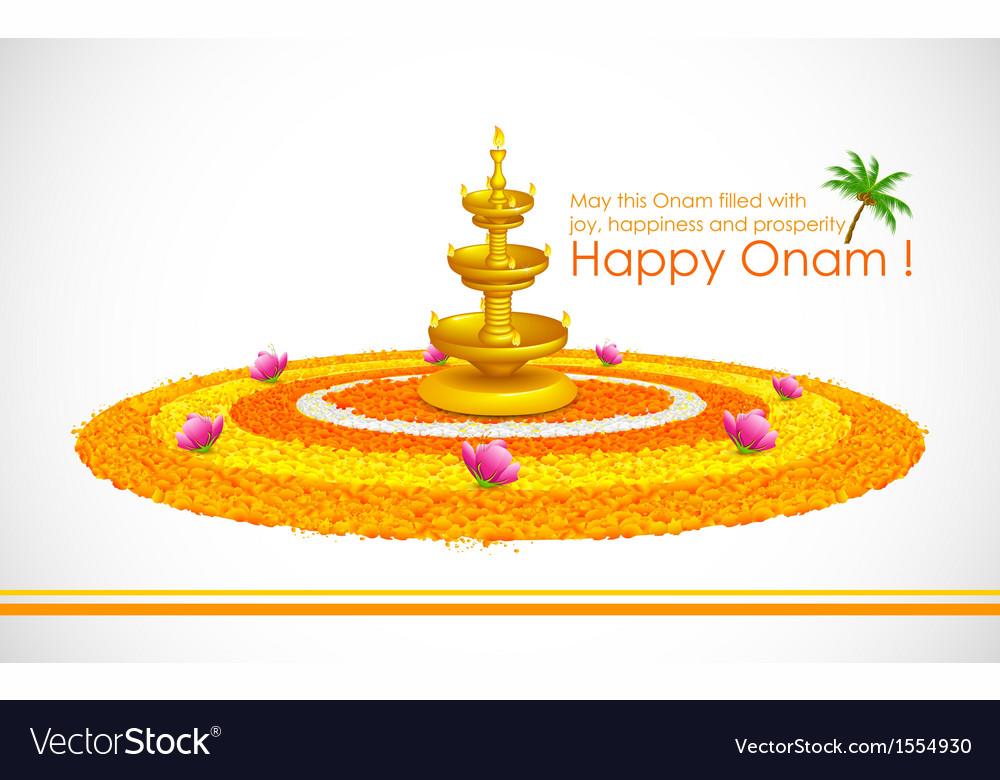 Happy onam vector | Price: 1 Credit (USD $1)