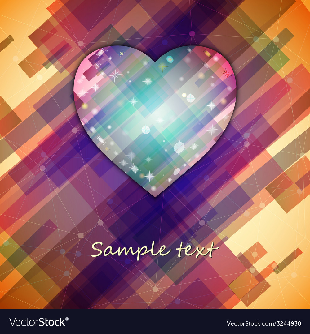 Love symbol light straight lines abstract vector | Price: 1 Credit (USD $1)