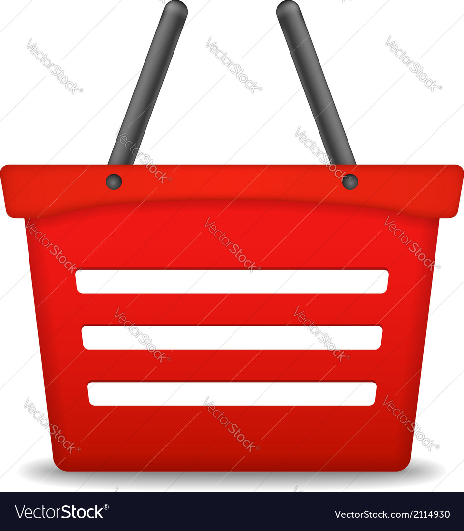 Shopping basket icon vector   Price: 1 Credit (USD $1)