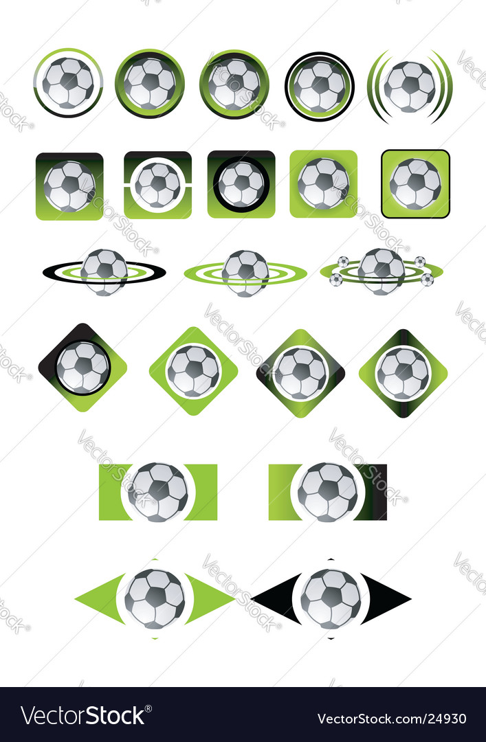 Soccer ball icons vector | Price: 1 Credit (USD $1)