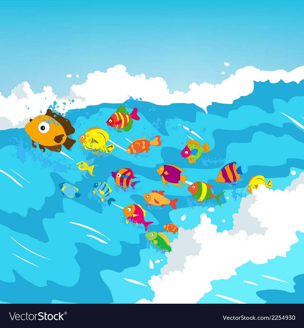 Surf fish vector | Price: 1 Credit (USD $1)