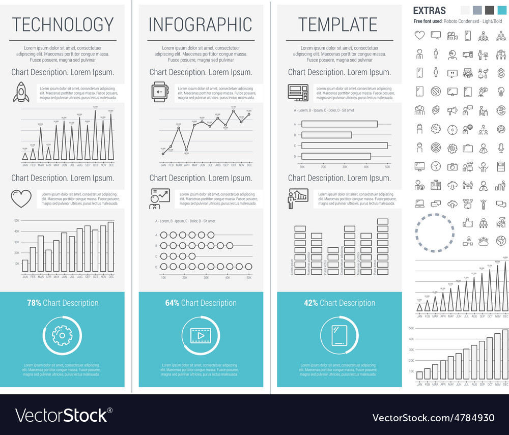 Technology infographic template vector | Price: 1 Credit (USD $1)