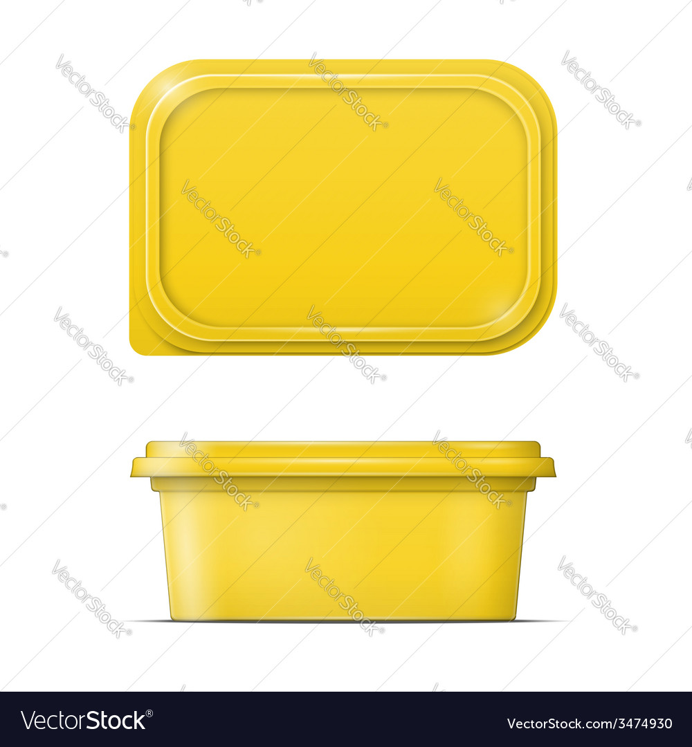 Yellow margarine spread template vector | Price: 1 Credit (USD $1)