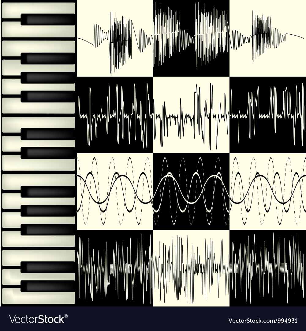 Abstract music background vector | Price: 1 Credit (USD $1)