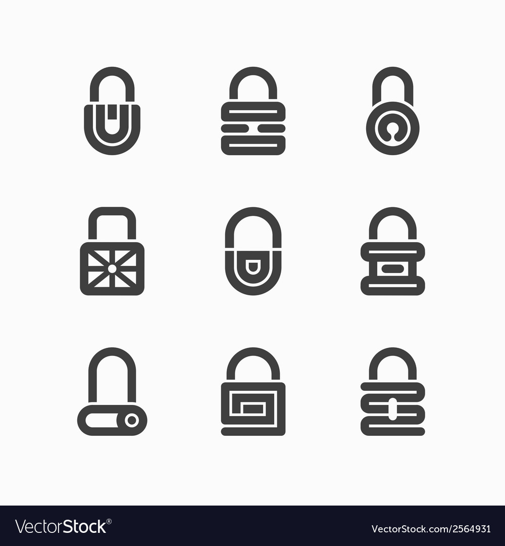 Abstract padlock icons vector | Price: 1 Credit (USD $1)