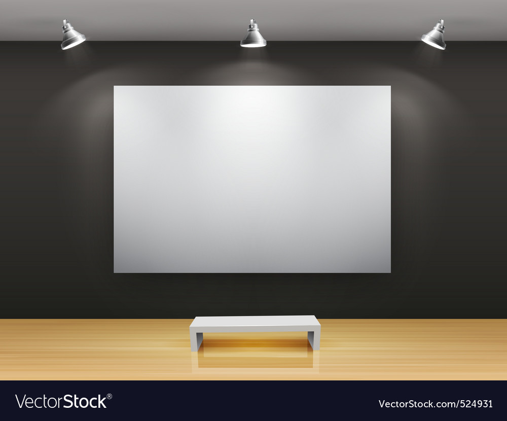 Dark gallery interior vector | Price: 3 Credit (USD $3)
