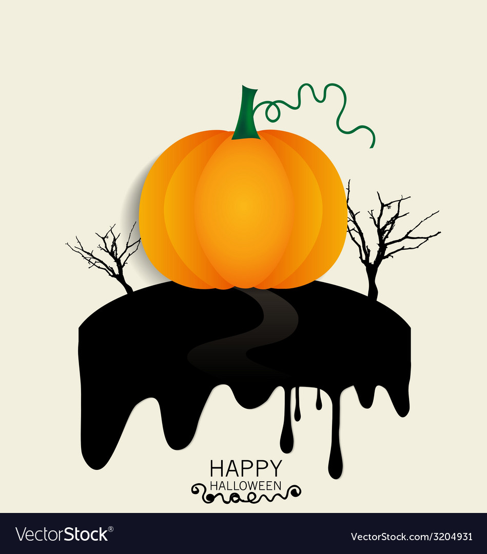 Happy halloween design background with halloween vector | Price: 1 Credit (USD $1)
