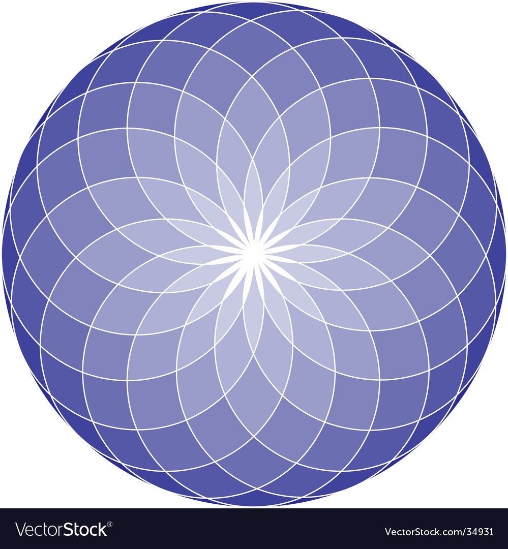 Seed of life mandala vector | Price: 1 Credit (USD $1)