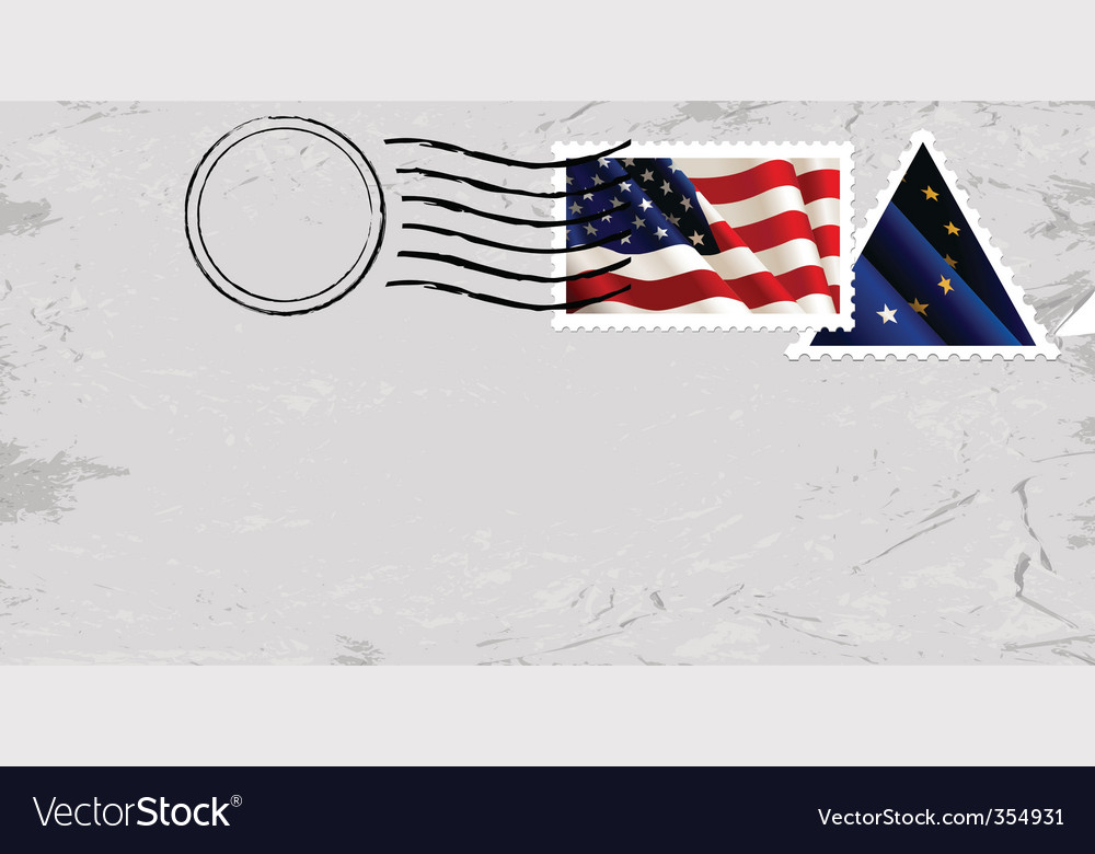 Stamp with us flag vector | Price: 1 Credit (USD $1)