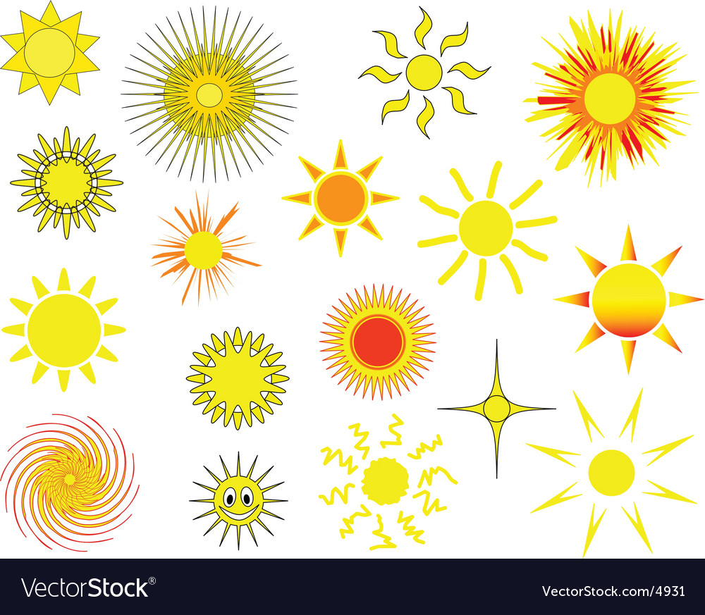 Sun collection vector