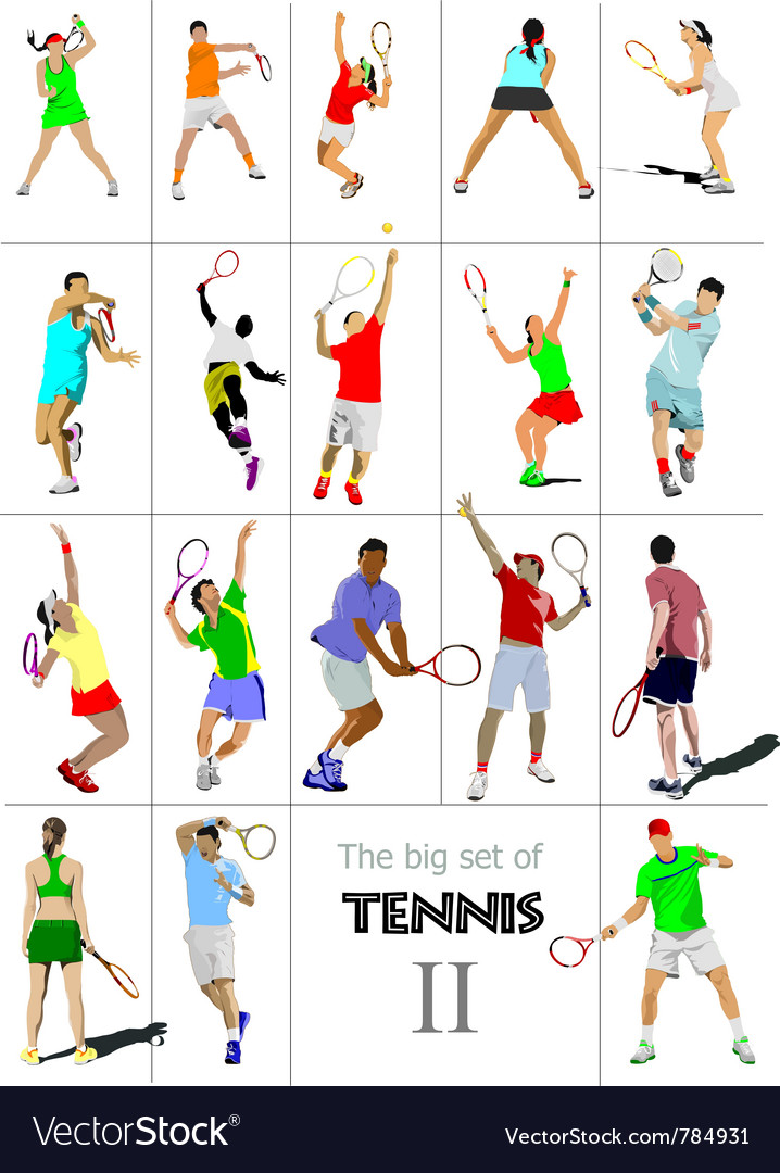 Tennis player vector | Price: 1 Credit (USD $1)