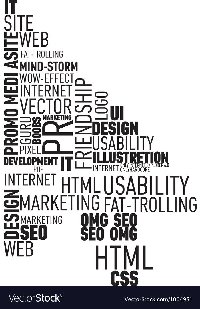 Web typograthy cursor cloud vector | Price: 1 Credit (USD $1)