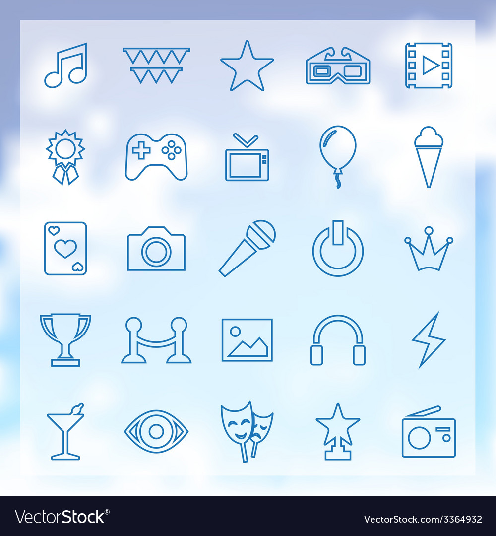 25 entertainment icons vector | Price: 1 Credit (USD $1)