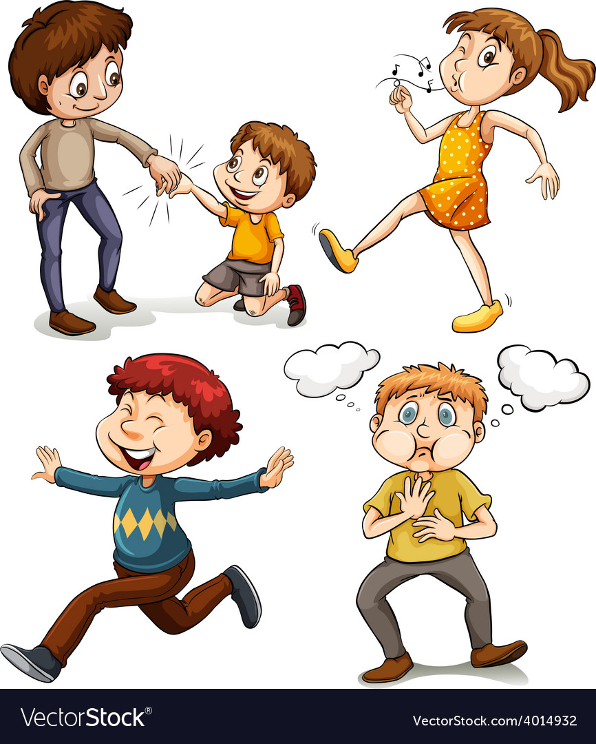 A group of kids vector | Price: 3 Credit (USD $3)