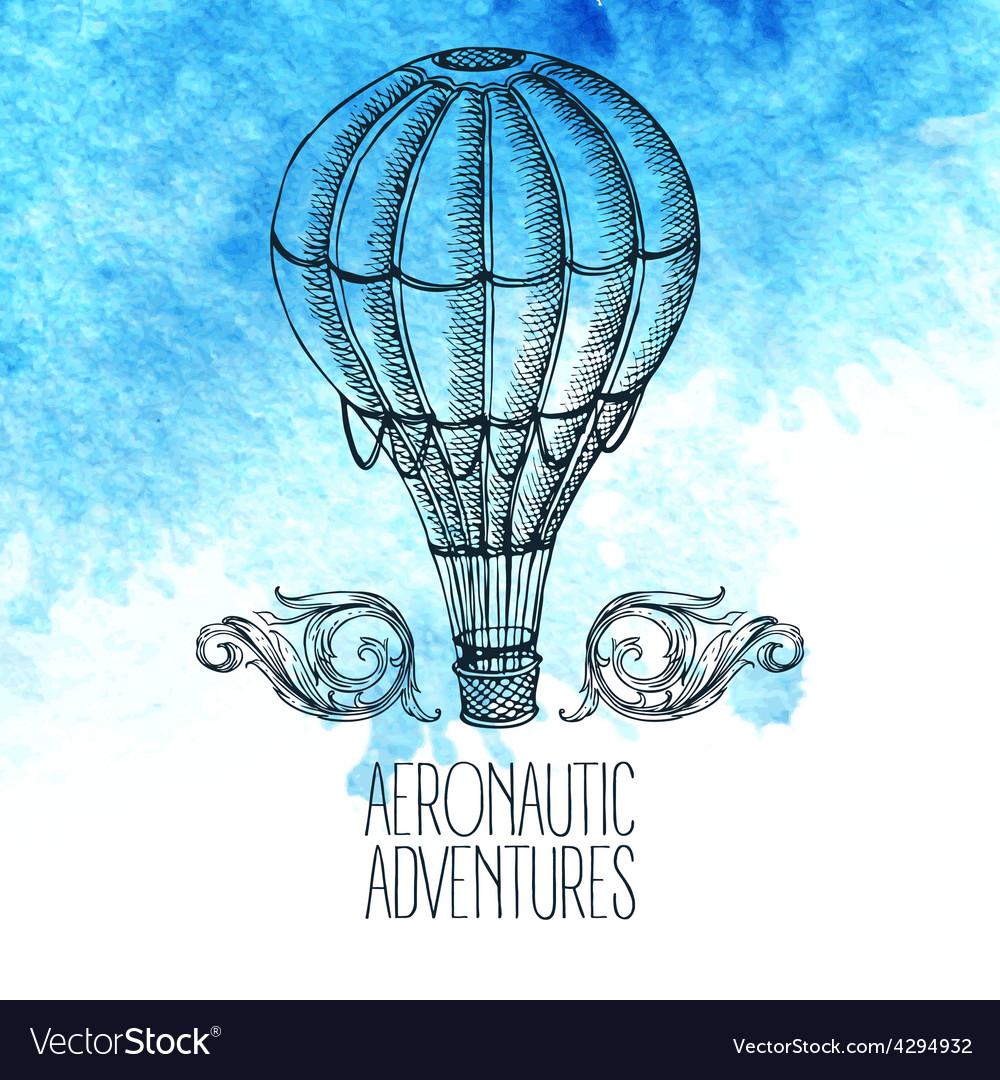 Aeronautic adventure vintage vector | Price: 1 Credit (USD $1)