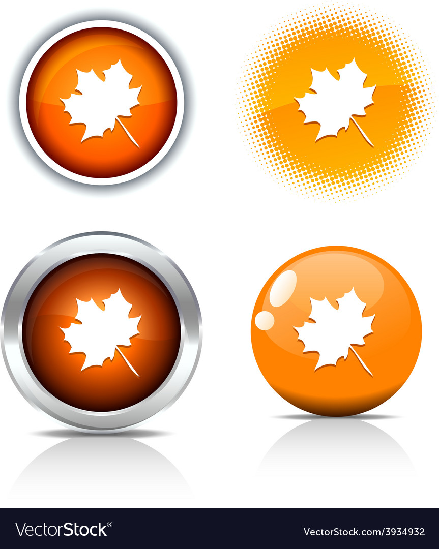 Autumn buttons vector | Price: 1 Credit (USD $1)