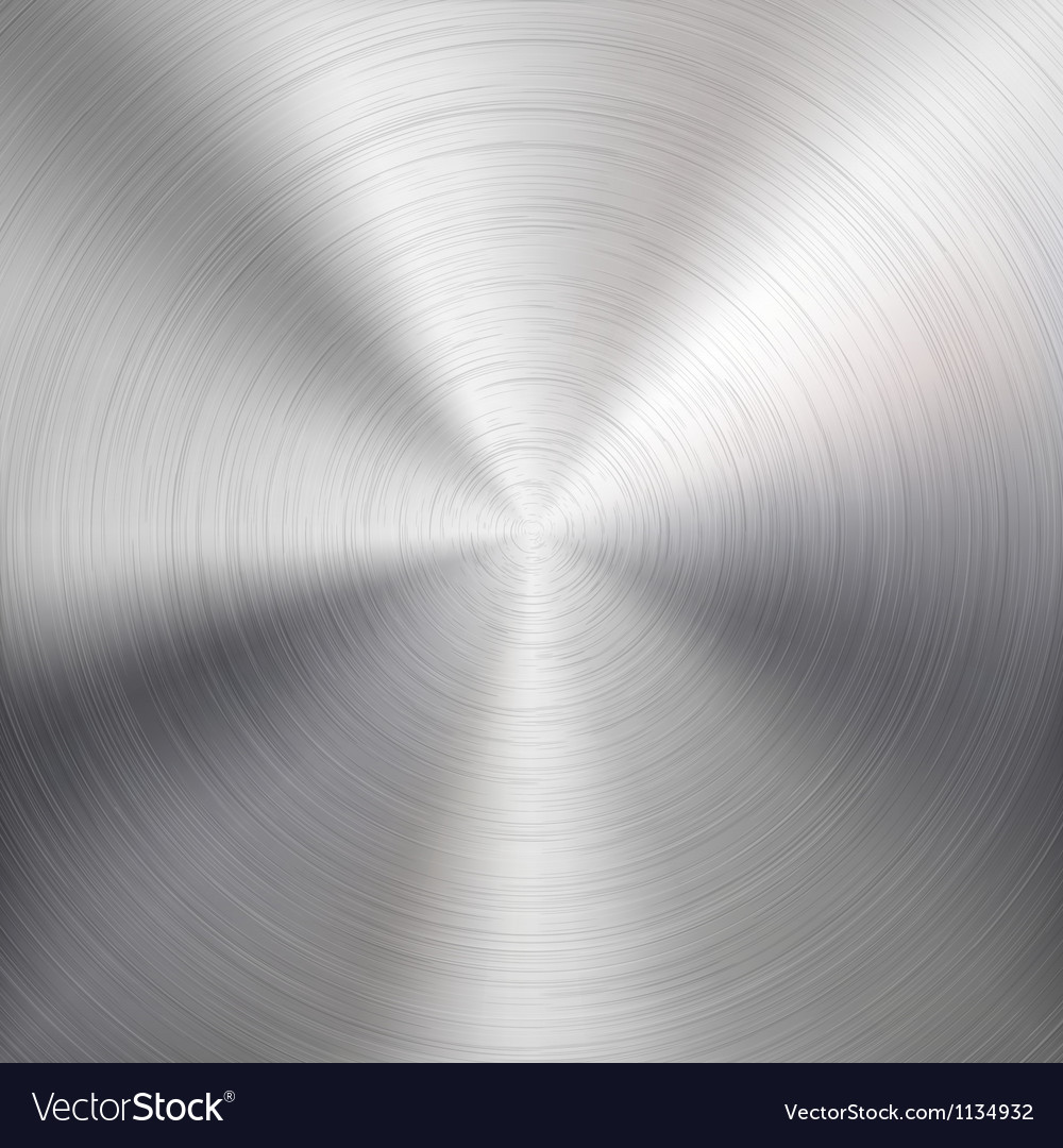 Background with circular metal brushed texture vector | Price: 1 Credit (USD $1)