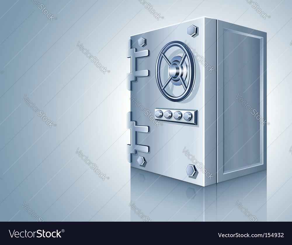 Bank safe for money storage vector | Price: 3 Credit (USD $3)