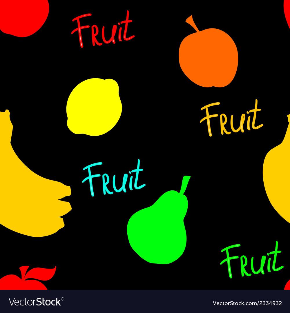 Black fruit pattern vector | Price: 1 Credit (USD $1)