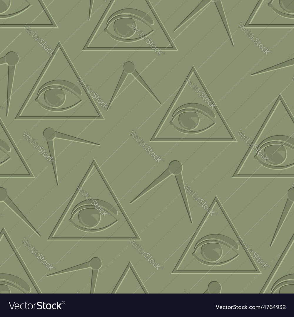 Eye in triangle background vector | Price: 1 Credit (USD $1)