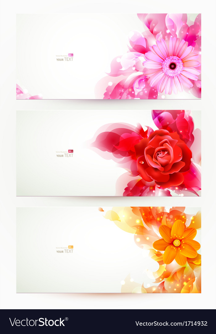 Flowers and artistic blots vector | Price: 1 Credit (USD $1)