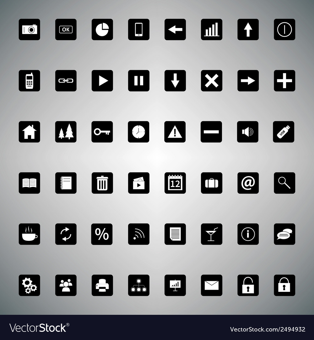 Pack of universal icons for web or applications vector | Price: 1 Credit (USD $1)