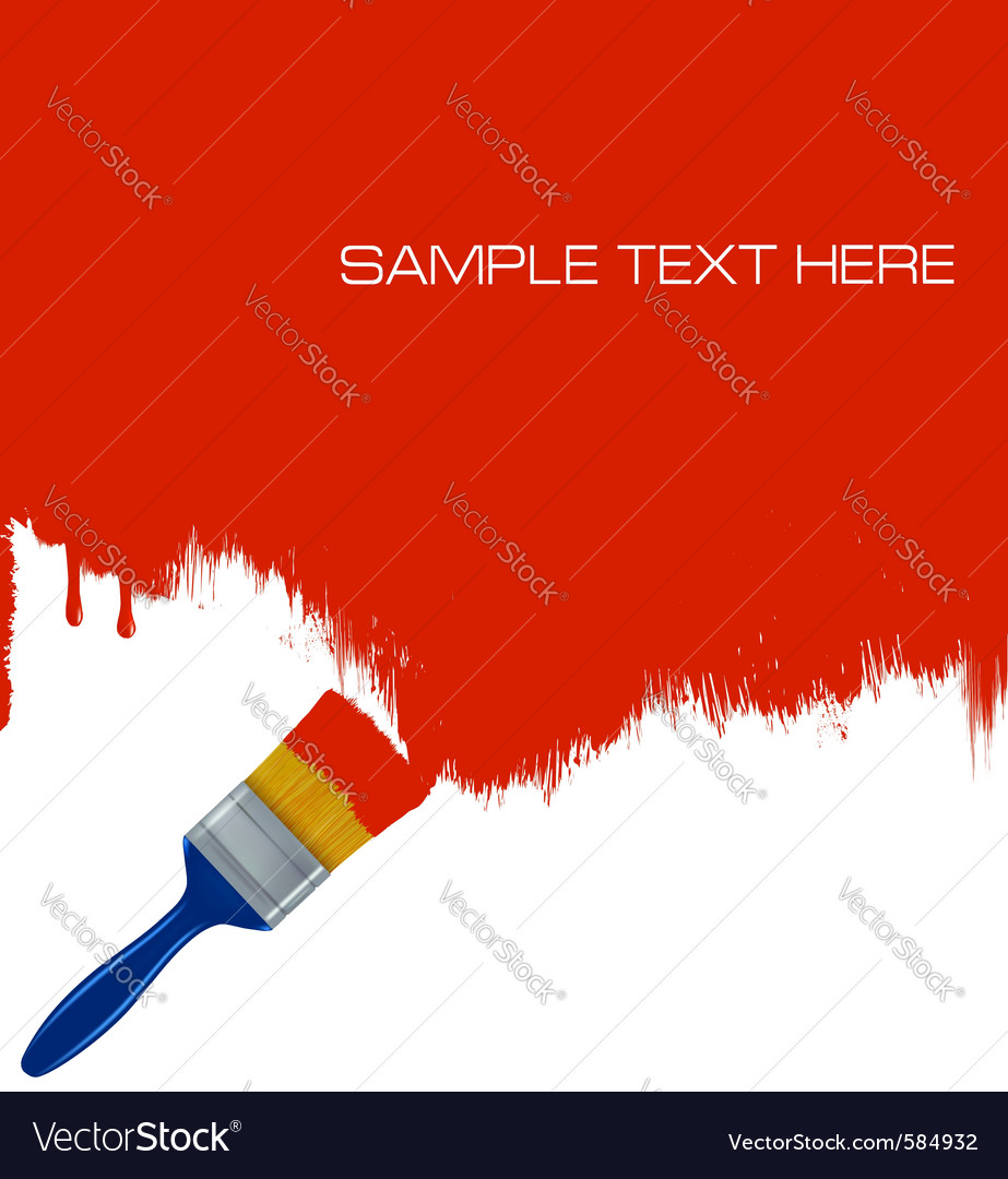 Paintbrush painting vector | Price: 1 Credit (USD $1)