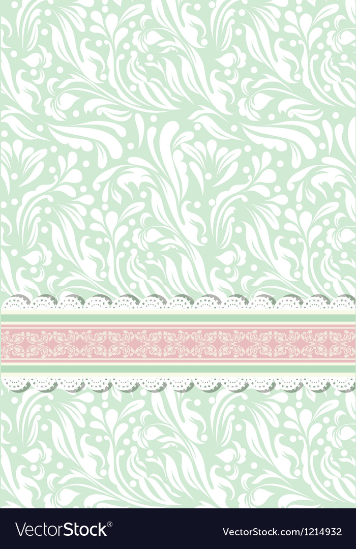 Retro background for valentine day card vector | Price: 1 Credit (USD $1)