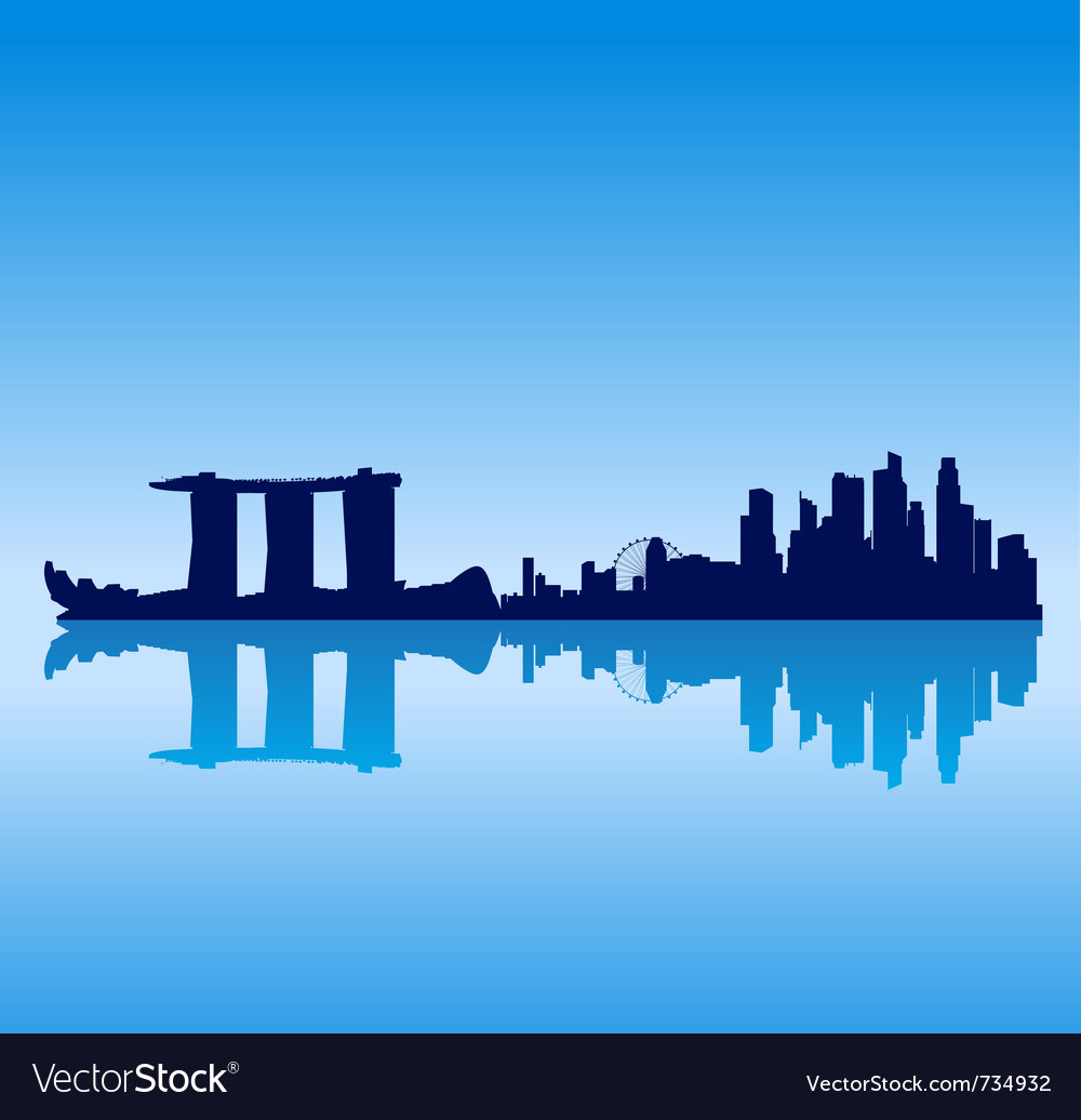 Singapore silhouette skyline vector | Price: 1 Credit (USD $1)