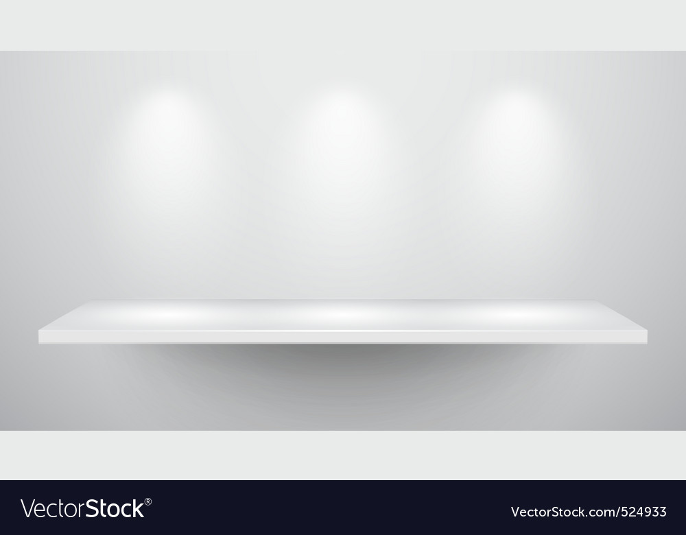 3d isolated empty shelf for exhibit vector | Price: 3 Credit (USD $3)