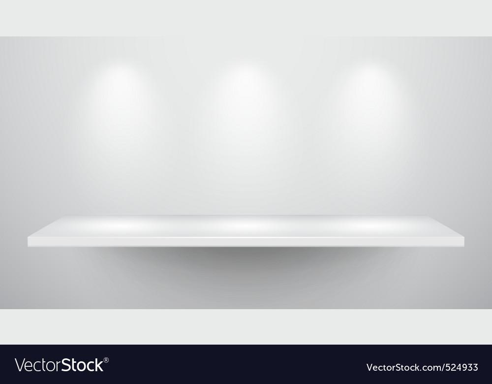 3d isolated empty shelf for exhibit vector | Price: 3 Credit (USD $3)