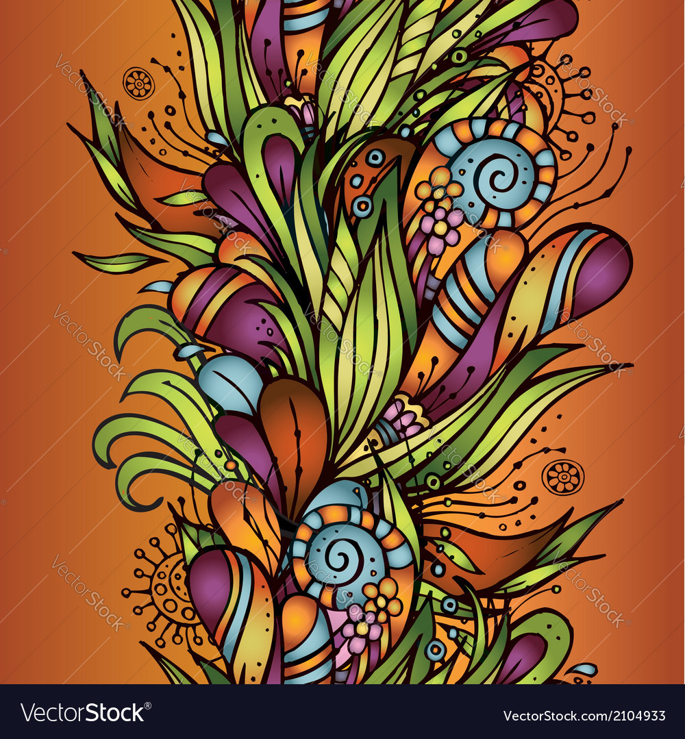 Abstract decorative nature seamless pattern vector | Price: 1 Credit (USD $1)