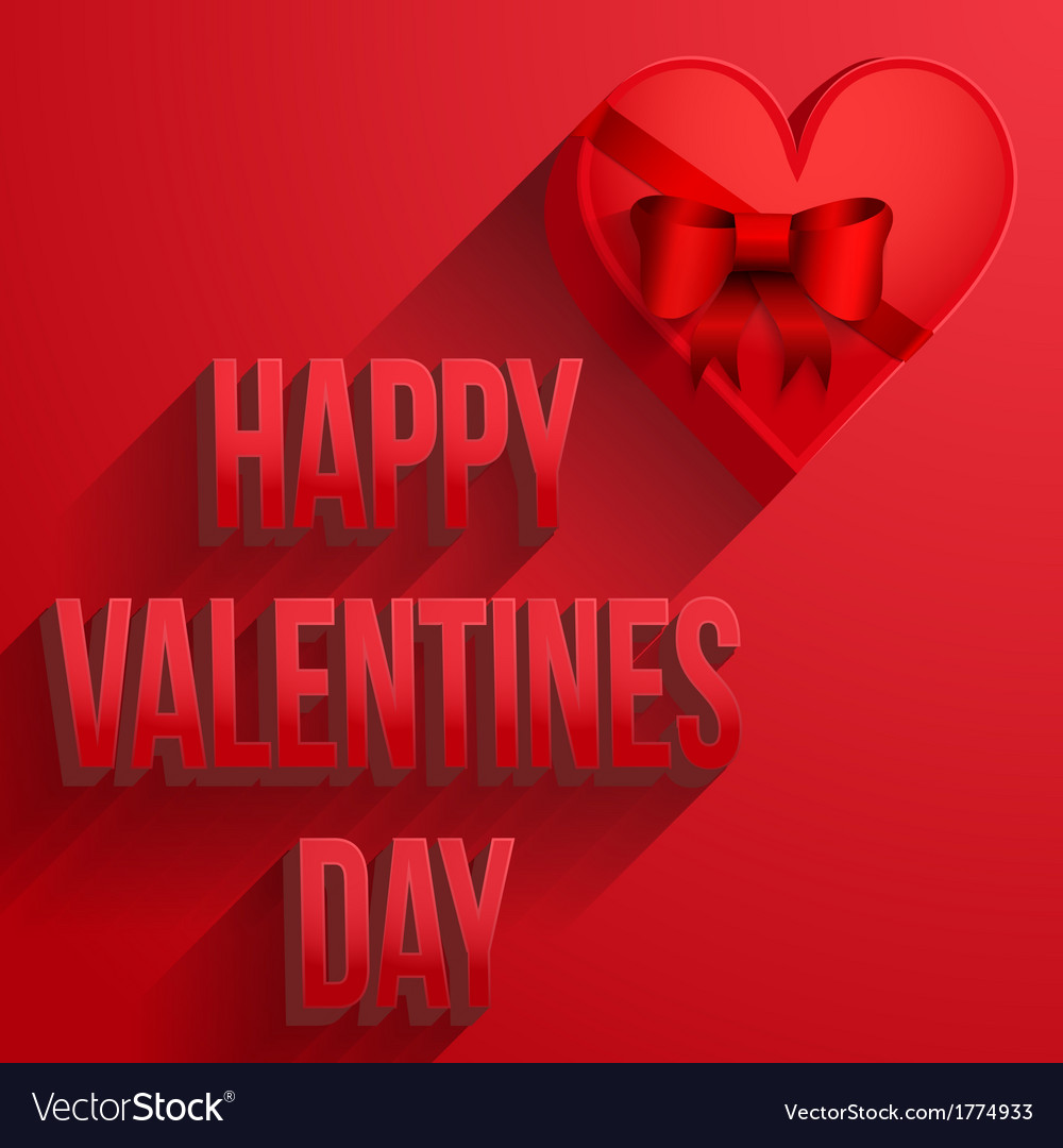 Background heart happy valentines day card vector | Price: 1 Credit (USD $1)