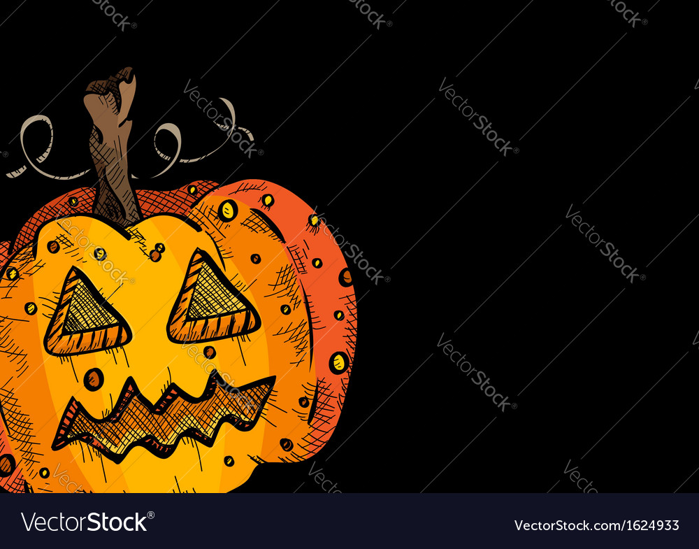 Happy halloween old pumpkin face lantern eps10 vector | Price: 1 Credit (USD $1)