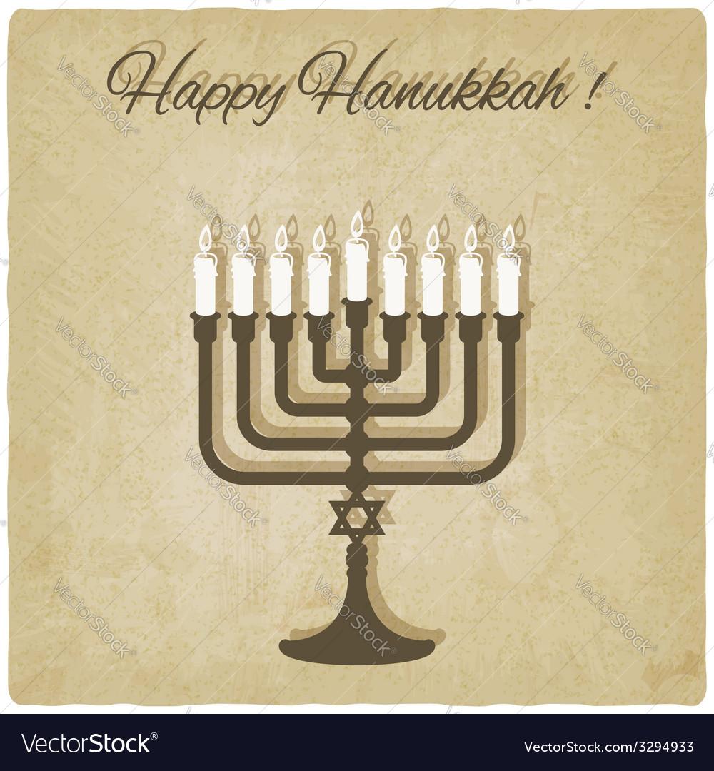 Happy hanukkah card vector   Price: 1 Credit (USD $1)