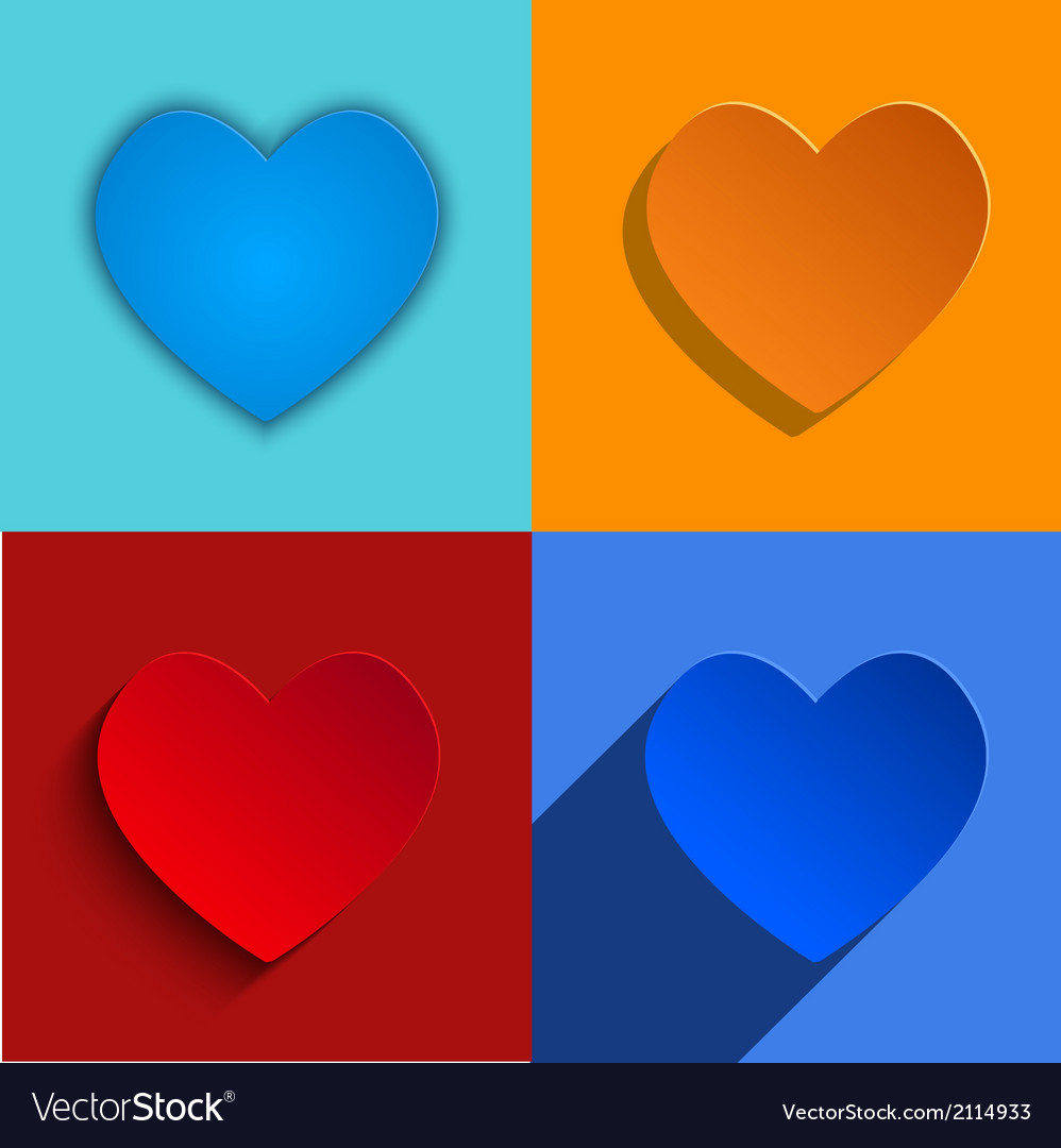 Modern hearts icons set vector | Price: 1 Credit (USD $1)
