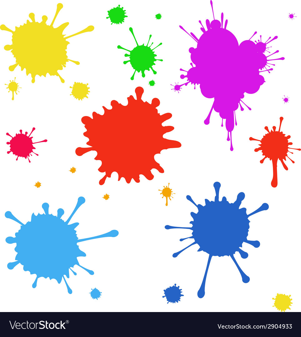 Set of colored blots on the white background vector | Price: 1 Credit (USD $1)