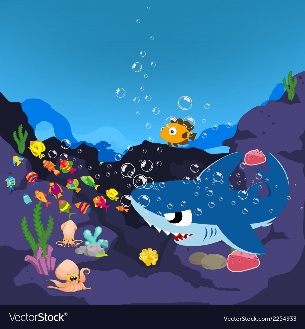 Sharks and oceanic vector | Price: 1 Credit (USD $1)
