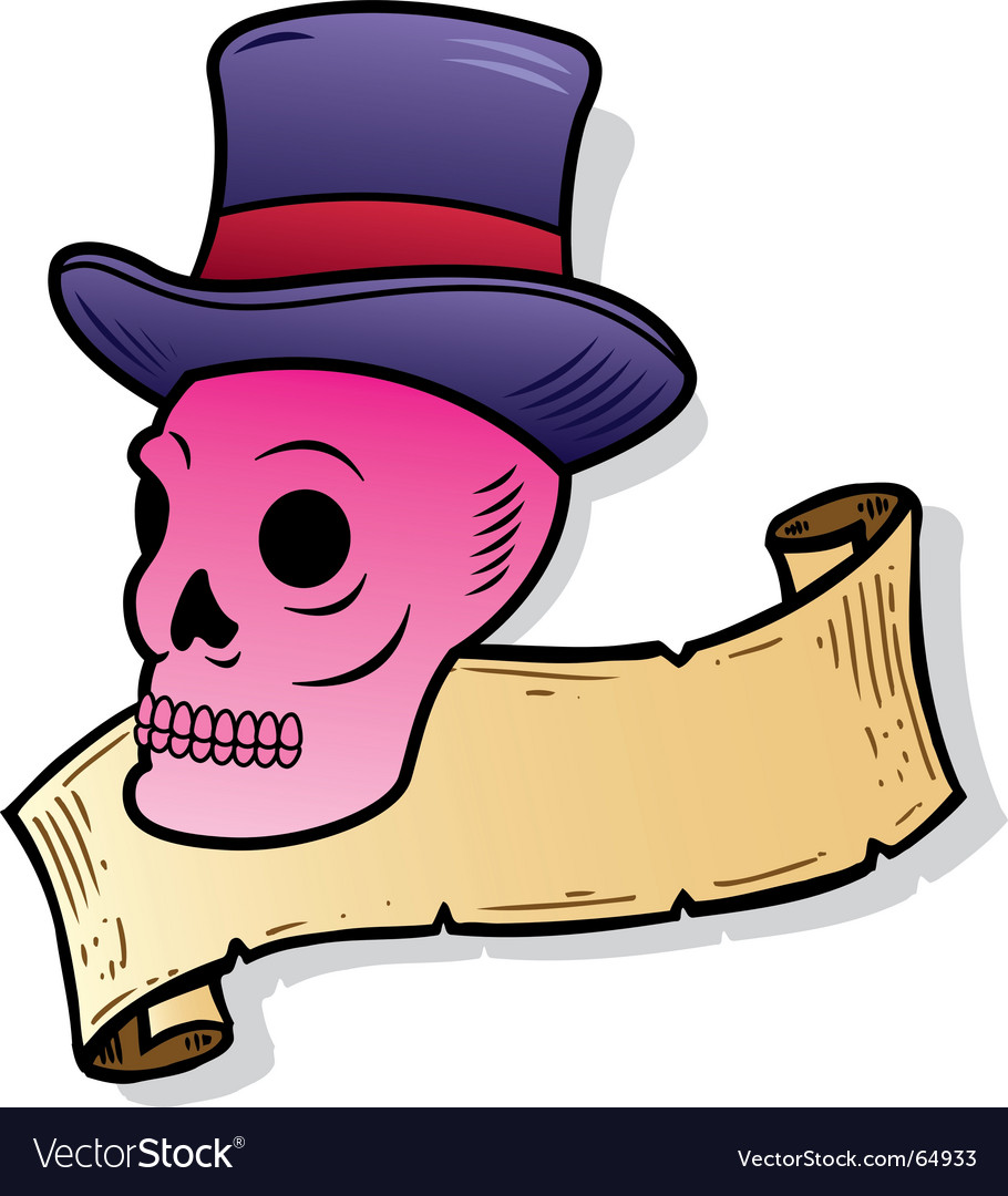 Top hat skull vector | Price: 1 Credit (USD $1)