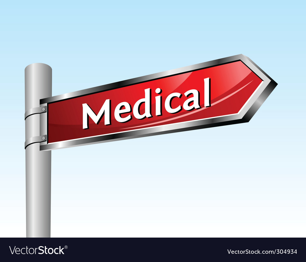 Arrow road sign medical vector | Price: 1 Credit (USD $1)