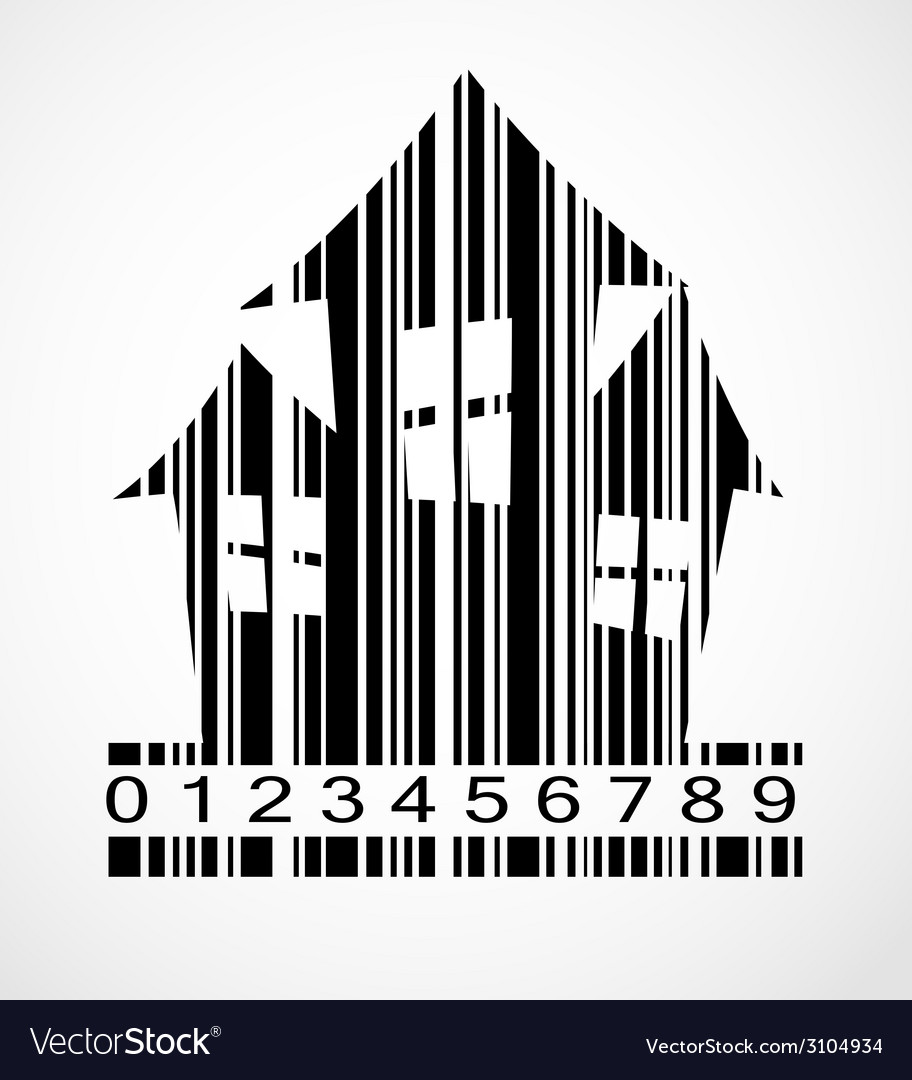 Barcode halloween house image vector | Price: 1 Credit (USD $1)