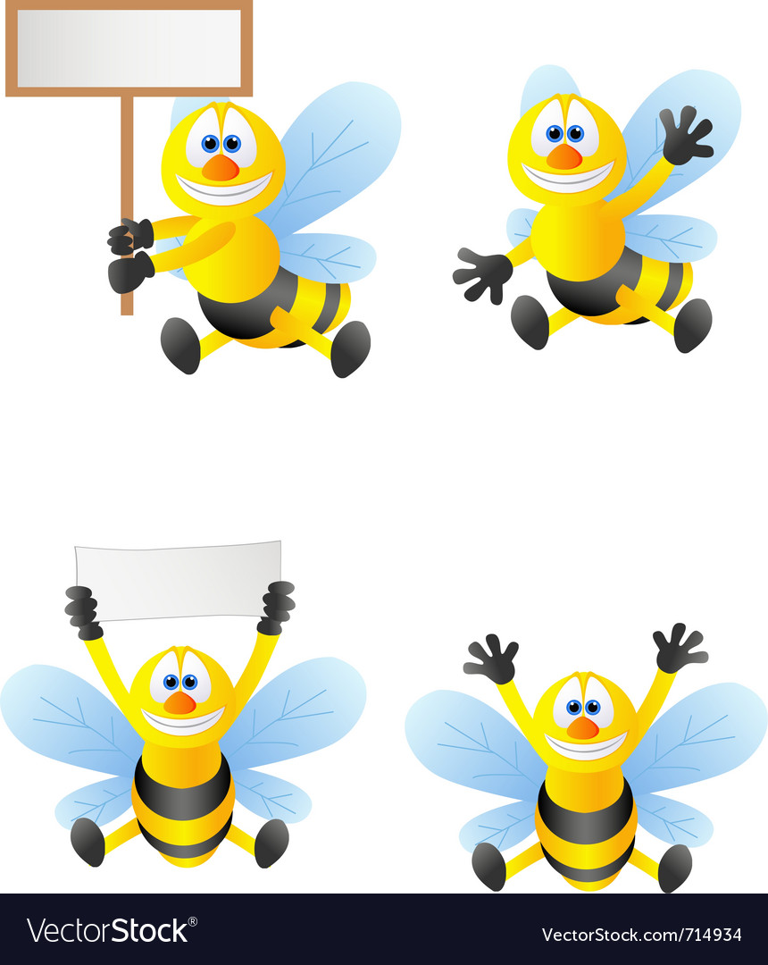 Bee cartoon vector | Price: 3 Credit (USD $3)