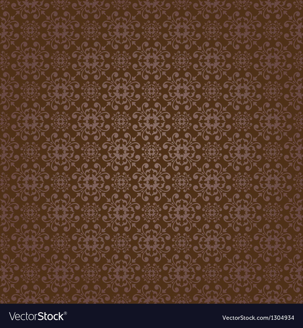Brown colors asian damask pattern vector | Price: 1 Credit (USD $1)