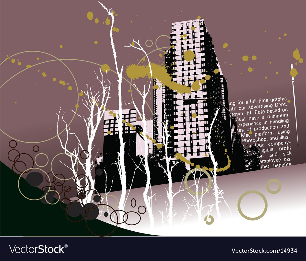 City grunge landscape vector | Price: 1 Credit (USD $1)