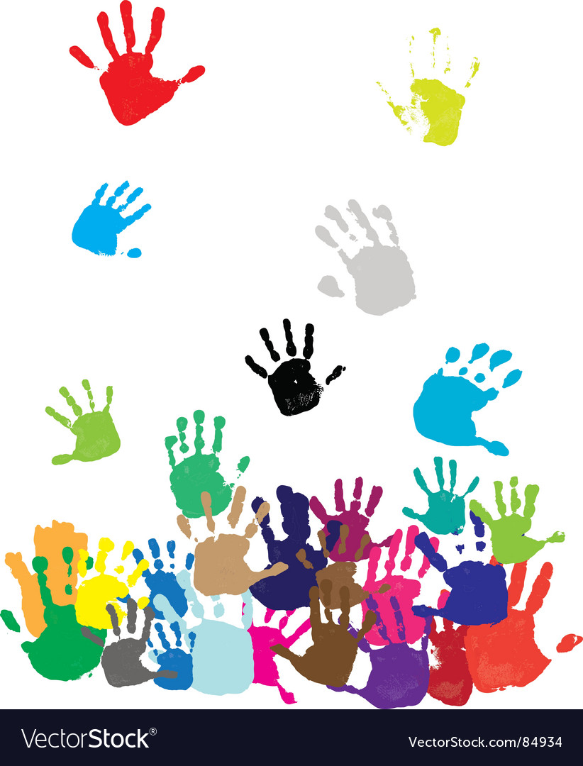 Colorful hands vector | Price: 1 Credit (USD $1)