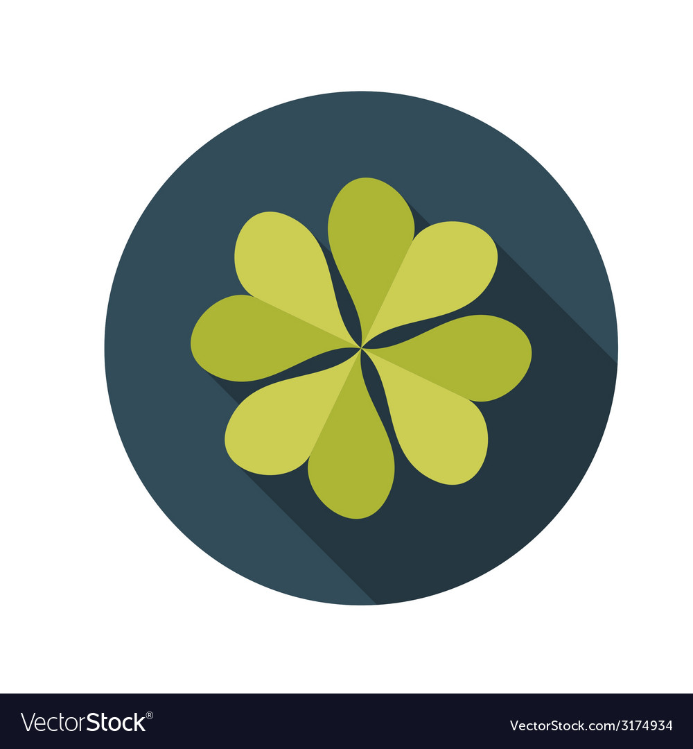 Flat design concept clover with long shadow vector | Price: 1 Credit (USD $1)