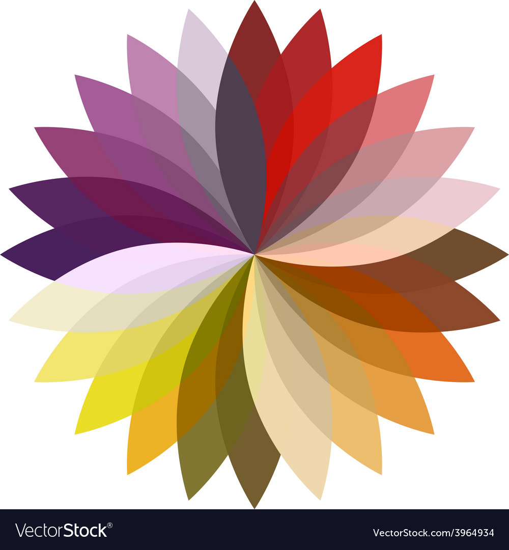 Flower color lotus silhouette for design vector | Price: 1 Credit (USD $1)