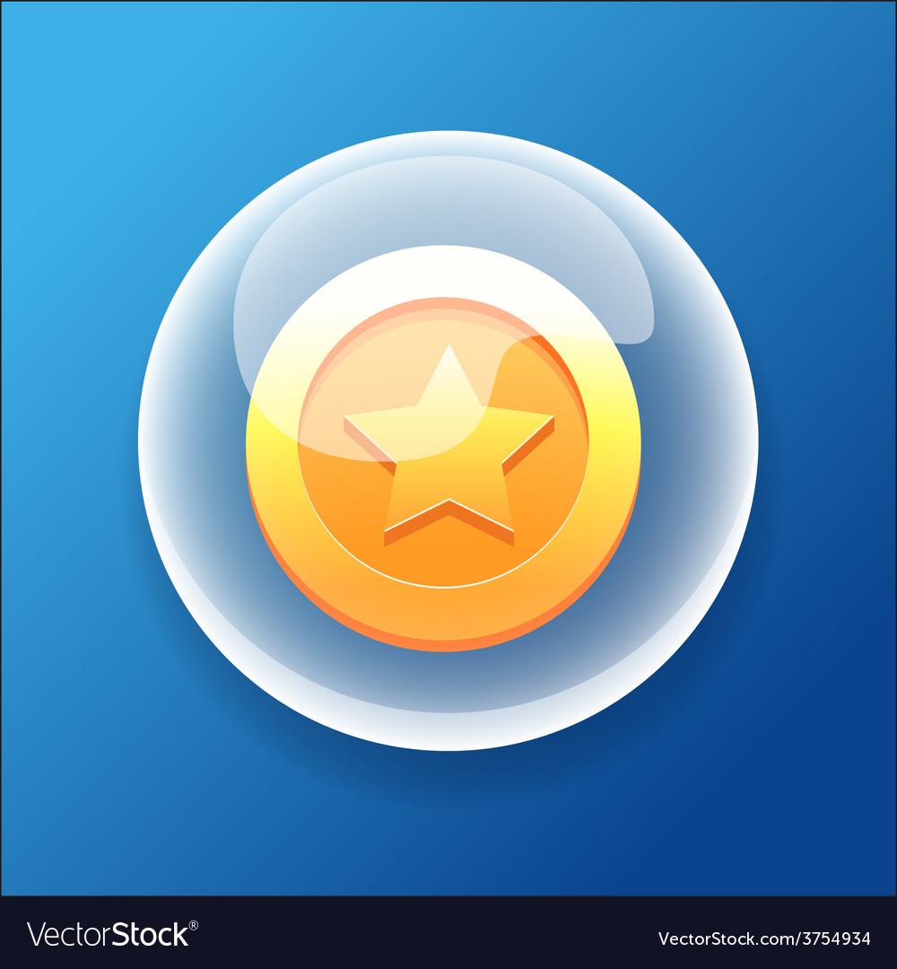 Gameiconbubblegoldcoinmoneybonusstar vector | Price: 1 Credit (USD $1)