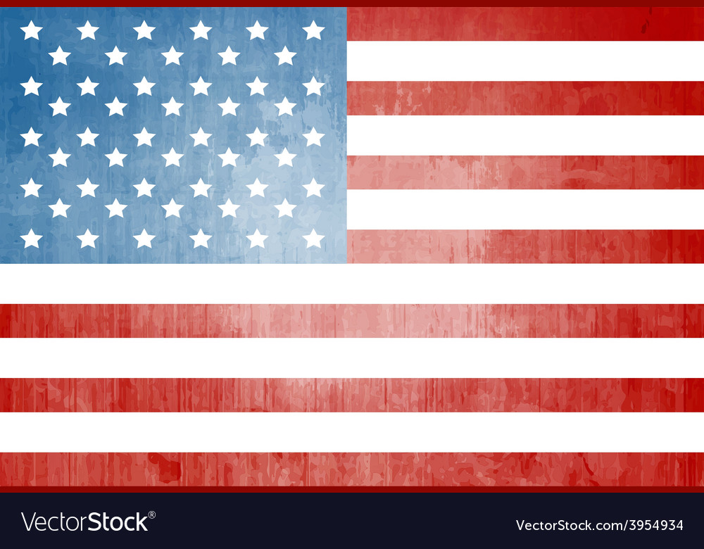 Grunge american flag vector | Price: 1 Credit (USD $1)